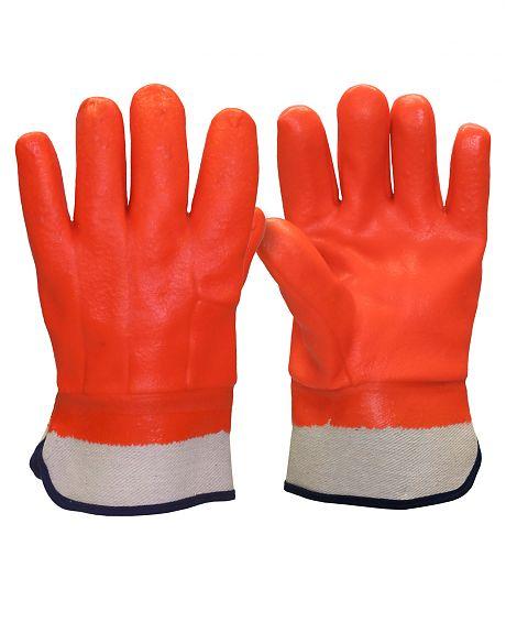 Перчатки утепленные ВИНТЕРЛЕ КП (ПВХ,утепленные х/б тканью с начесом,манжет-крага), в уп.72пар