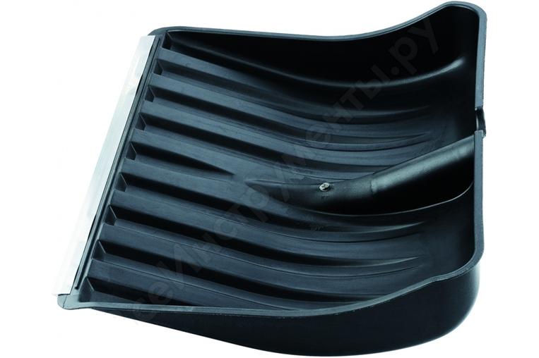 Лопата снегоуборочная пластиковая  460*400 с оцинк планкой
