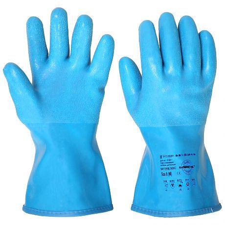Перчатки утепленные ВИНТЕРЛЕ ЛЮКС р.  8,9,10 (ПВХ,NBR, акриловый утеплитель, длина 30 см)
