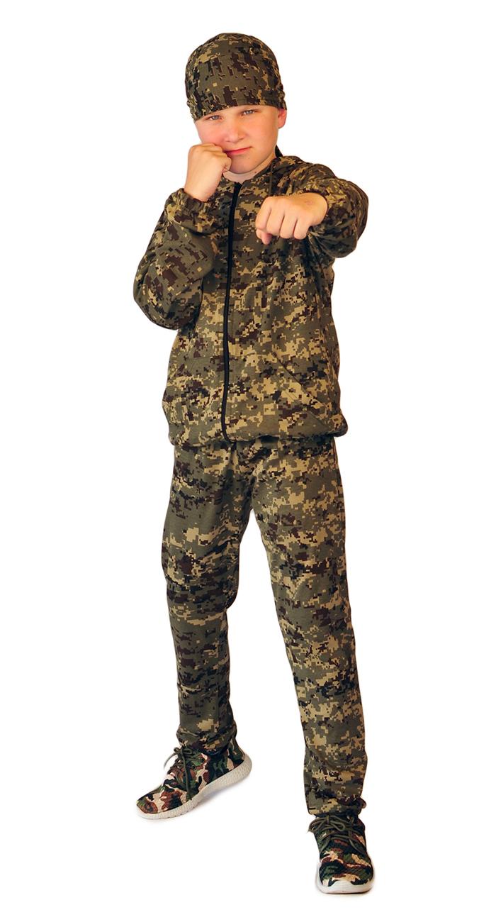 Костюм детский трикотажный ТИгР серо-зеленая цифра (куртка + брюки 100%х/б)