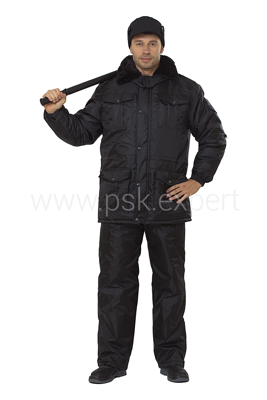 Куртка Охранник удлиненная черный КУР606