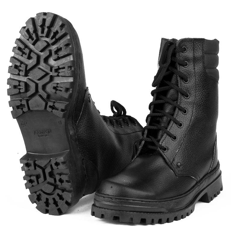 Ботинки с высоким берцем Армия хром на искусственном меху