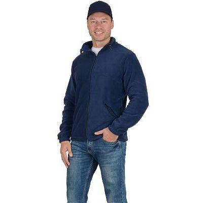 Куртка флисовая 260г/кв.м темно-синяя