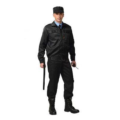Костюм СИРИУС-Вымпел куртка, брюки (тк.смесовая) черный