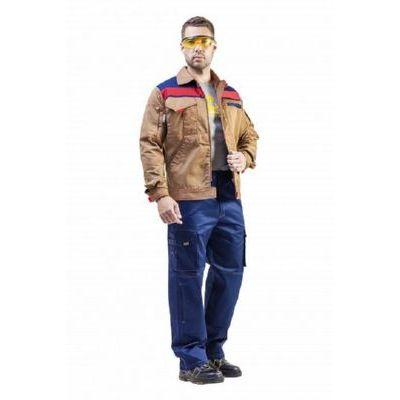 Куртка Рольф 1 бежевый/т.синий/красный КУР592