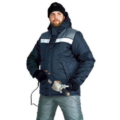 Куртка зимняя ЭРЕБУС цвет: т.синий/серый