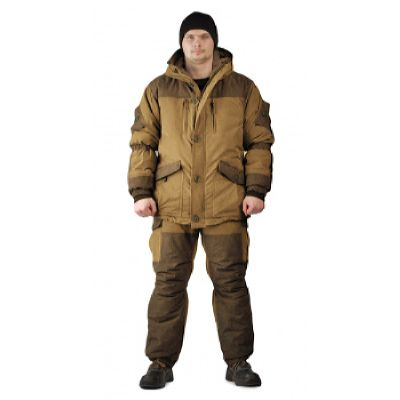 Костюм «ГРАСК» зимний куртка/полукомб. т. Канада коричневый