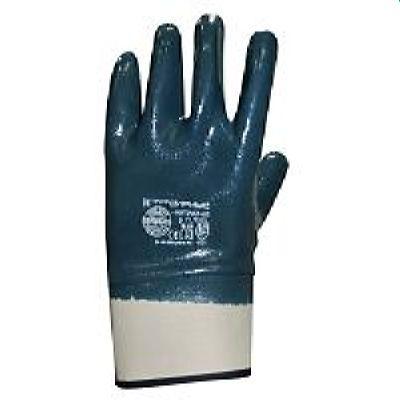 Перчатки нитриловые СИРИУС-НИТРИЛ КП (ЛЮКС), в уп.120пар с твёрдыми манжетами обливные, р. 9,10,11
