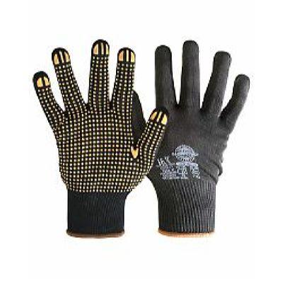Перчатки НейпДот-Ч (нейлон, ПВХ-точка, цвет черный), в уп.300пар