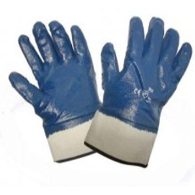 Перчатки нитриловые манжет крага полный облив