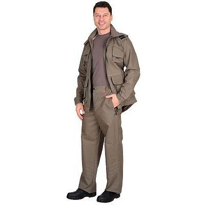 Костюм СИРИУС-Мичиган-2 куртка, брюки (тк. Canvas) темный песок