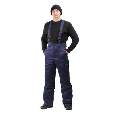 Брюки мужские зимние тк. грета т-синие