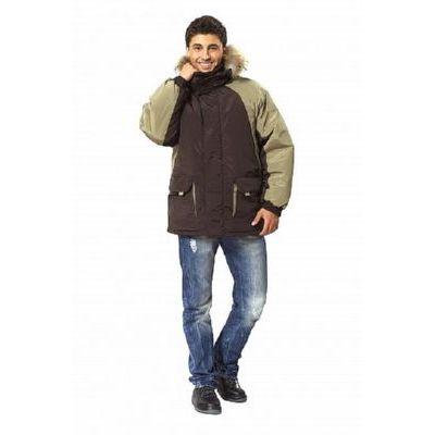 Куртка Брукс т.коричневый/олива КУР565