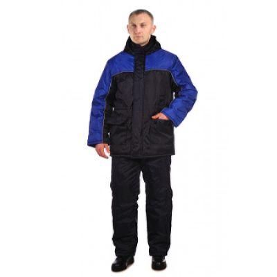 Костюм зимний БАЛТИКА куртка/полукомб. цвет: т.синий/василек