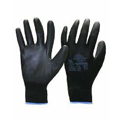 Перчатки Нейп Пол-Ч (нейлон с полиуретаном, цвет черный) р.  7,8,9,10, в уп.600пар