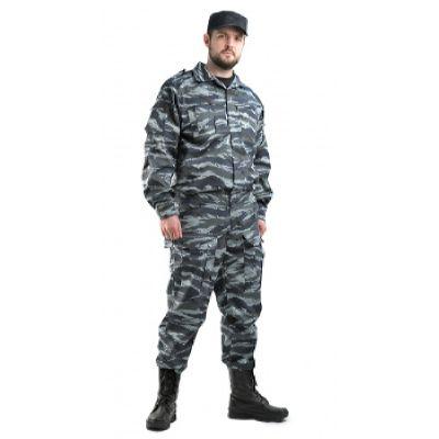 Костюм мужской Спецназ тк.смесовая ТВИЛ Серый вихрь