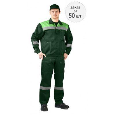 Костюм ЛЕГИОН куртка/полукомб. т.зеленый/св.зеленый
