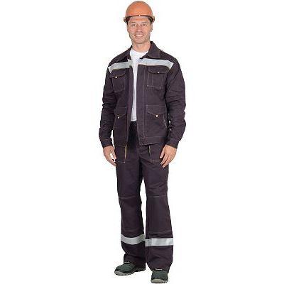 Костюм СИРИУС-ТРОЯ куртка, брюки т.коричневый с СОП