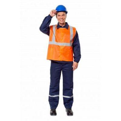 Жилет Рабочий с ВО пропиткой оранжевый ЖИЛ317