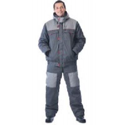 Костюм зимний ФАВОРИТ куртка + брюки (темно-серый, светло-серый)
