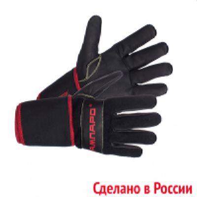 Перчатки Вибростат 01 антивибрационные кожаные чёрные