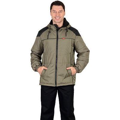 Куртка СИРИУС-Спринтер мужская,  оливковая с черным