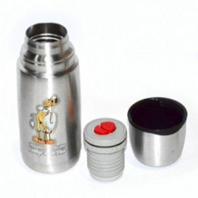 Термос LUO TUO с узким горлом. вакуумный.  стальной, кнопкой, 0,3 л (упак. 12 шт.)