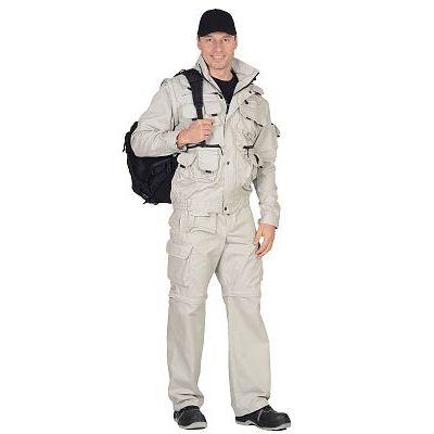 Костюм СИРИУС-Тигр Молочный: куртка, брюки, жилет, шорты, 20 карманов!