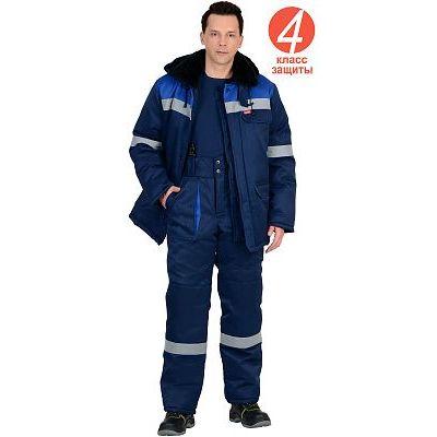 Костюм СИРИУС-СЕВЕР зимний: куртка дл.,брюки синий с васильковым и СОП