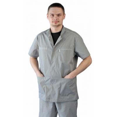 Костюм мужской Доктор серый с белым