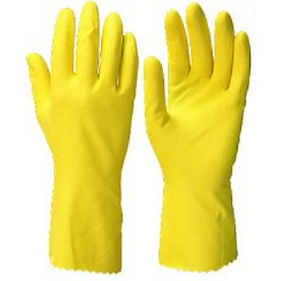 Перчатки ЧИСТОТА р.S,M,L,XL, в уп. 144 пары (латекс, хлопковый слой, толщ.0,38мм,дл.300мм.)