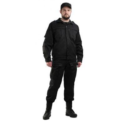 Костюм мужской Спецназ черный,  тк.смесовая