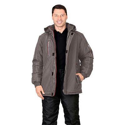Куртка СИРИУС-АЛЕКС: зимняя, мужская, цв. т-серый