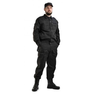 Костюм мужской Спецназ рип-стоп черный