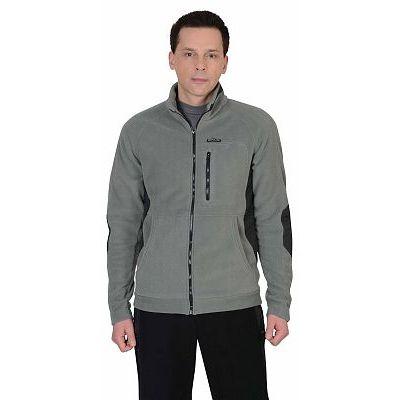 Куртка флисовая СИРИУС-Актив серая отделка черная