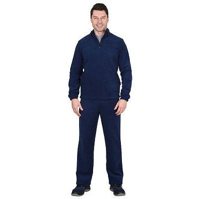 Костюм флисовый 260г/кв.м куртка, брюки темно-синий