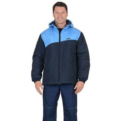 Куртка СИРИУС-ЭРИДАН утепленная, темно-синяя с голубым