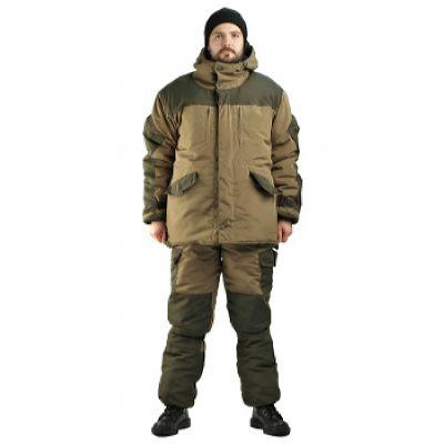Костюм зимний ГОРКА 3 куртка/брюки, цвет: св.хаки/т.хаки, ткань: Полибрезент