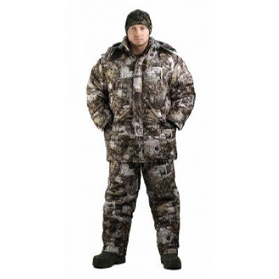 Костюм мужской Тайга зимний, подклад фольгированный, тк.мембрана, цв, кмф Paintball.