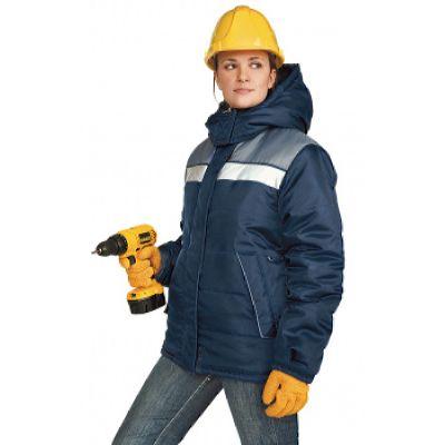 Куртка ЖЕНСКАЯ зимняя ЭРЕБУС цвет: т.синий/серый