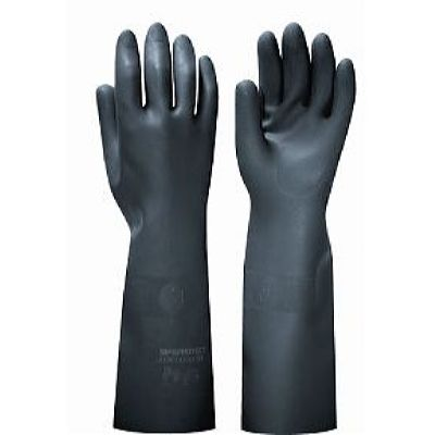 Перчатки БЛЭК ГАУНТЛЕТ , в уп.36пар (латекс, без хлопк. слоя, толщ.0,80мм,дл.450мм.)