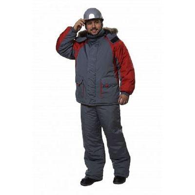 Куртка Брукс серый/красный КУР565
