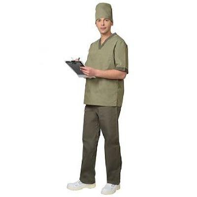 Костюм СИРИУС-РЕАЛ мужской: куртка, брюки, колпак оливковый с хаки