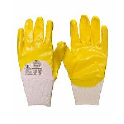 Перчатки НИТРИЛ-ЛАЙТ-SР РЧ желтые с частичным обливом, р. 7,8,9,10,11, в уп.120пар