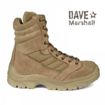 Ботинки кожаные с высокими берцами TERRA D-7