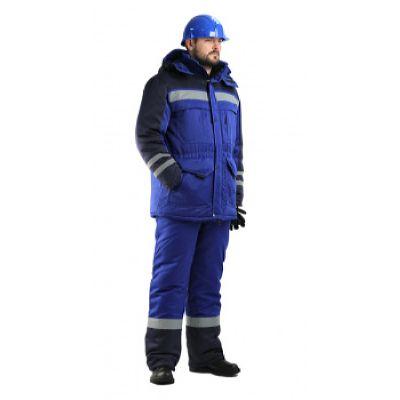Костюм мужской Зимник зимний васильковый с т-синим