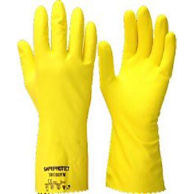 Перчатки ЭКОХОУМ  р.S,M,L,XL, в уп.144пар (латекс, хлопковый слой, толщ.0,40мм,дл.300мм.)