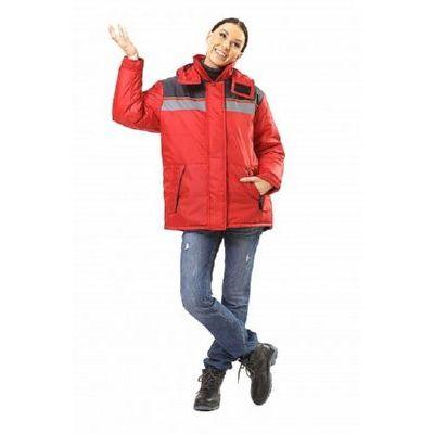Куртка Эребус красный/серый (женская) КУР604