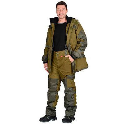 Костюм СИРИУС-ГОРКА зимний: куртка дл., брюки (тк.палатка) хаки