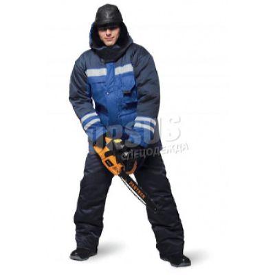 КУРТКА мужская Зимник васильковая с т-синим